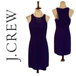 NWT J. Crew Purple Sheath Dress. Size 8
